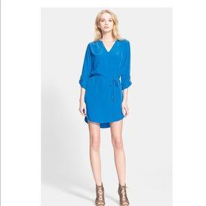Joie Motega Tie-Waist Silk Dress